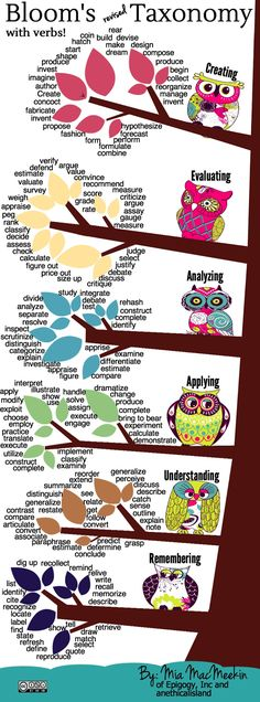 Pinterest - Bloom's with verbs
