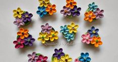 Quilling by Ada: 8 Martie Quilling Flowers Tutorial, Paper Quilling Flowers, Paper Quilling Jewelry, Paper Quilling Designs, Quilling Earrings, Quilling Patterns, Neli Quilling, Quilling Dolls, Quilling Paper Craft