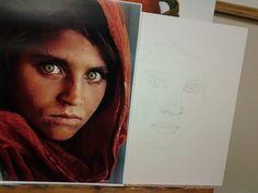 Pintura al óleo. Dibujo previo.