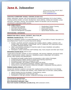 Hipster Resume For Elementary Teacher Free Professional Template Examples