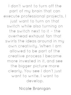 "Are you allowing #creativity? @NicoleBranigan via @mattchevy's ""The Hustle"""