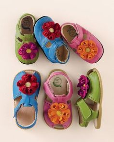 Livie & Luca Flower Sandals and Crib Shoes, Sizes 0-6 mos. - 13
