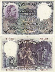 Espanha - 50 Pesetas 1931