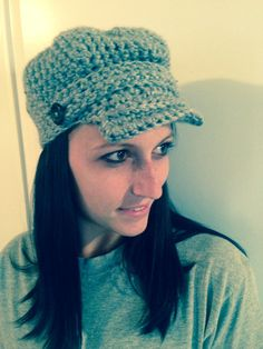 Crochet Conductor Cap with Brim and Buttons Color by CogarCrochet, $18.50