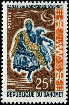 1964 República de Hahomey-Danzas Étnicas Tradicionales-Danza Sakpatassi (Abomey)