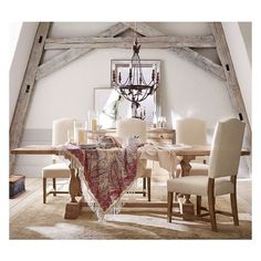Pottery Barn Parkmore Extending Dining Table ($1,499) ❤ liked on Polyvore featuring home, furniture, tables, dining tables, painted tables, extendable kitchen table, painted dining table, butterfly leaf table and extension dining table
