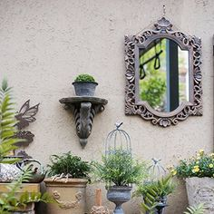 """pin it for later. Read more on french country bathroom accessories. Home Collection Rustic French Palace Style Carving Frame Wall Mirror [A] 17""""W X 23.6""""H; 4 lb #frenchcountrybathroomaccessories"""