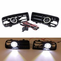 ==> [Free Shipping] Buy Best LED DRL Daytime Running lights Bumper Grille Grill Front Fog Light Angel Eyes Lamp Lights For 1998-2004 VW Golf GTI/TDI MK4 C/5 Online with LOWEST Price | 32735021179