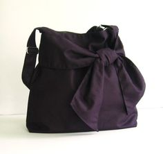 Etsy listing at https://www.etsy.com/listing/78128567/sale-deep-purple-canvas-bag-tote