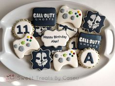 Call of duty ghosts birthday cookies Army's Birthday, Harry Birthday, 13th Birthday Parties, Birthday Cookies, Birthday Nails, Birthday Ideas, Decorating Supplies, Cookie Decorating, Call Of Duty Cakes