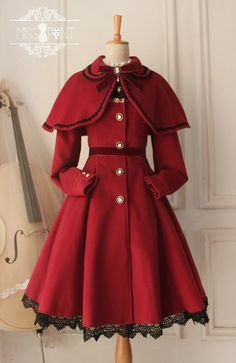 For Christmas: This [❤Lolita Cape and Coat Set❤] from Miss Point is [✂ON SALE AND CAN BE CUSTOM SIZED✂] >>> http://www.my-lolita-dress.com/little-red-riding-hood-lolita-coat-yuan-88