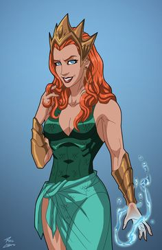 Queen Mera (Earth-27) commission by phil-cho on DeviantArt