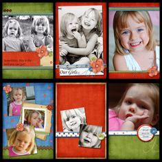 Mini Me 4x6 Brag Book Mini Album Templates :: Gotta Pixel Digital Scrapbook Store