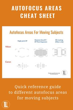 Best autofocus tips. Know your autofocus areas and how to use them to ensure sharp focus of moving subjects every time. Shutter Speed Photography, Nature Photography Tips, Photography Cheat Sheets, Photography Basics, Photography Tips For Beginners, Photography Lessons, Photoshop Photography, Photography Tutorials, Photography Business