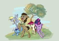 Doctor Whooves and all the companions. Pinned purely for future reference....