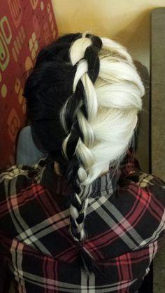 #BlackAndWhite #Braided #Hair