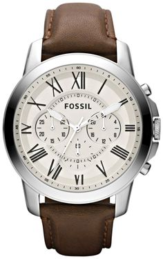 Fossil FS4735 Grant Brown Leather Watch  Fossil Watch Men
