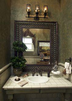 castle interior design gates vista count castle interior design guest bath tile wainscot - Mirror Tile Castle Ideas