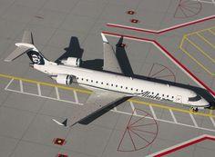 1/200 GeminiJets Alaska Airlines Bombardier CRJ-700 Diecast Model