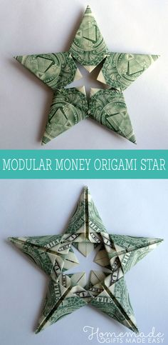 Want to learn how to fold a 5-pointed money origami star out of 5 one dollar bills? Just follow my easy photo and video instructions