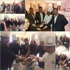 Sarah Todd - Masterchef 2014 and Sanjeev Kapoor for Cake Mixing Ceremony at Le Meridien Gurgaon #LMGurgaon