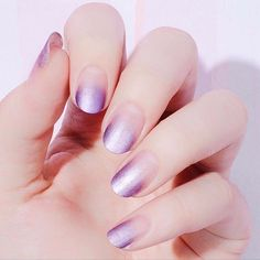 Embrace the ombre trend with these metallic pink gradient nails.