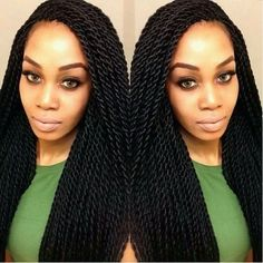 How to style the box braids? Tucked in a low or high ponytail, in a tight or blurry bun, or in a semi-tail, the box braids can be styled in many different ways. To go to work, we can wear… Continue Reading → Curly Hair Styles, Natural Hair Styles, Twisted Hair, Pelo Natural, Crochet Braids, Crochet Twist, Beautiful Braids, Pretty Braids, Black Power