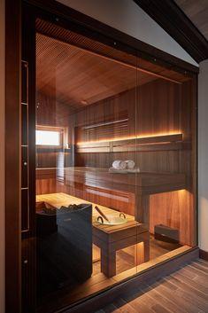 Diy Sauna, Home Room Design, Dream Home Design, House Design, Garden Design, Home Spa Room, Spa Rooms, Sauna House, Sauna Room