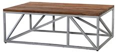 One Kings Lane - Rooms for Less - Houston Coffee Table, Brown/Silver