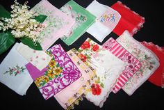 Vintage Hankies Touch of Pink Collection by CheekyVintageCloset, $34.50