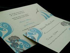 Tropical beach Wedding invitation by   Zoss Design  http://www.etsy.com/listing/34773605/beach-wedding-invite?ref=v1_other_1