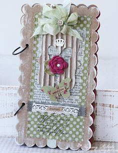 Design Team member Tammy Roberts shares a great tutorial on our blog today for this lovely shabby and vintage mini book. See it on the Sizzix blog: http://sizzixblog.blogspot.com/2012/04/memories-journal.html .