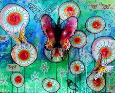 Bonjour les créatives ! Le mois de mai, c'est le Printemps et presque l'Eté ... Je ne sais pas chez vous, mais ici les papillons...