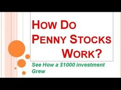 How Do Penny Stocks Work? | Want to Invest In Penny Stocks? - http://www.pennystockegghead.onl/uncategorized/how-do-penny-stocks-work-want-to-invest-in-penny-stocks-2/