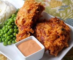 Copycat Popeye's Extra-Crispy Spicy Fried Chicken recipe... yum!  We know what we're making for dinner tonight!