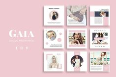 Gaia Social Media Pack by SlideStation on @creativemarket #ad