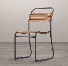 """1930S BELGIAN STACKING WOOD CHAIR Overall: 20""""W x 23""""D x 26""""H Seat: 18""""H"""