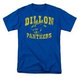Friday Night Lights Dillon Panthers Distressed Royal Blue Adult T-shirt