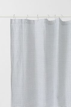Patterned Shower Curtain - White blue striped - Home All  0070751ca012b