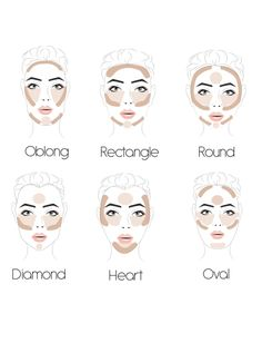 How To Highlight & Contour Your Face Like A Celebrity Contour Square Face, Face Shape Contour, Contour For Round Face, Round Face Makeup, How To Contour Your Face, Makeup For Square Face, Make Up Round Face, Contour Heart Shaped Face, Highlight Face