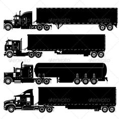 Trucks Silhouettes Set #GraphicRiver Available EPS vector format separated by groups and layers for easy edit Also you can check at my Collections: Vector Cartoon Cars Vector Cartoon Trucks Detailed Vector Cars modern and retro Detailed Vector Trucks Vans Tractors and Pickups Detailed Vector realistic and cartoon styled Buses Vector aircrafts, airplanes, retro, modern, blueprints, silhouettes and aerial backgrouds Detailed vector train illustrations and Detailed 3D model locomotive Detailed…