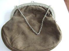 51b007c0eaa Online veilinghuis Catawiki: Zilveren tasbeugel met zachtlederen tas, J.  Vos, Haarlem,