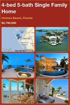 4-bed 5-bath Single Family Home in Holmes Beach, Florida ►$2,790,000 #PropertyForSale #RealEstate #Florida http://florida-magic.com/properties/1457-single-family-home-for-sale-in-holmes-beach-florida-with-4-bedroom-5-bathroom
