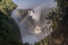 Victoria Falls Rainbow. August 2014