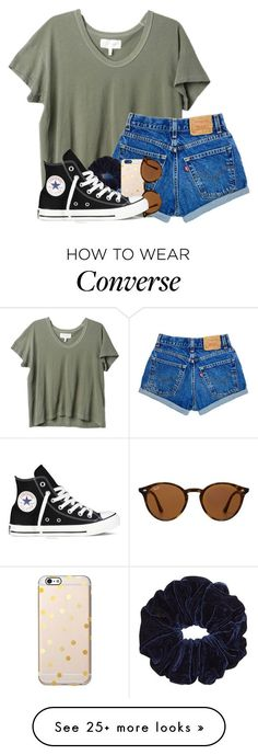 HELP SHOULD I TAKE FRENCH OR SPANISH by madiweeksss on Polyvore featuring The Great, Ray-Ban and Converse