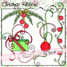These titles are embellished with icons of the seasons and/or holidays and what people typically think of the days of the week. Purple Christmas Tree, Christmas Ribbon, Christmas Love, Retro Christmas, Christmas Candy, Christmas Angels, All Things Christmas, Christmas Crafts, Christmas Decorations