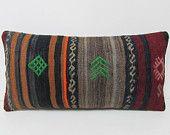 kilim pillow lumbar nursery decor outdoor pillow set hippie textile kilim fabric knit pillow sham tribal tapestry embroidery pillow 27397