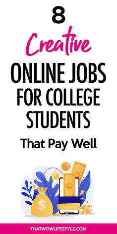 Looking for ways to make money while in college? Check out these 7 creative ways to make money on the side or a full-time income while studying. Best Online Jobs, Online Jobs From Home, Online Work, Earn Money Online Fast, Earn Money From Home, How To Make Money, Student Jobs, College Students, Creativity Online