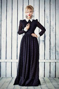 New Women Summer Style Elegant Maxi Dress Long Sleeve Vintage Flower Print Party Long Dress Maxi Shirt Dress, Floral Print Maxi Dress, Robe T-shirt Large, Mode Sombre, Vintage Dresses, Vintage Outfits, Elegant Maxi Dress, Maxi Robes, Alternative Fashion
