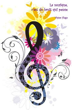 La musique, c'est du bruit qui pense. Victor Hugo